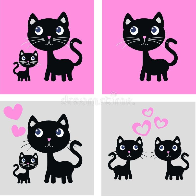 Impression de chat illustration stock