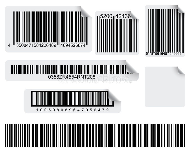 Impression de code barres illustration stock