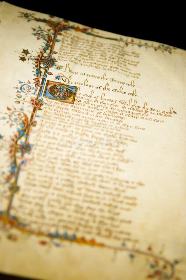 Impression de contes de Cantorbéry photo libre de droits