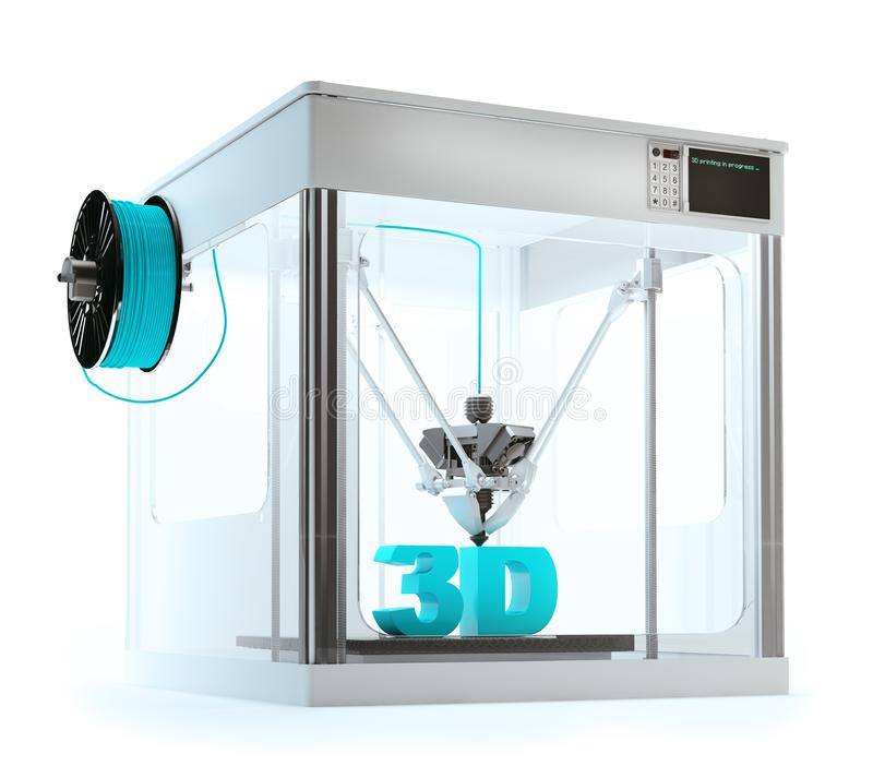 impression de machine de l'imprimante 3D illustration stock