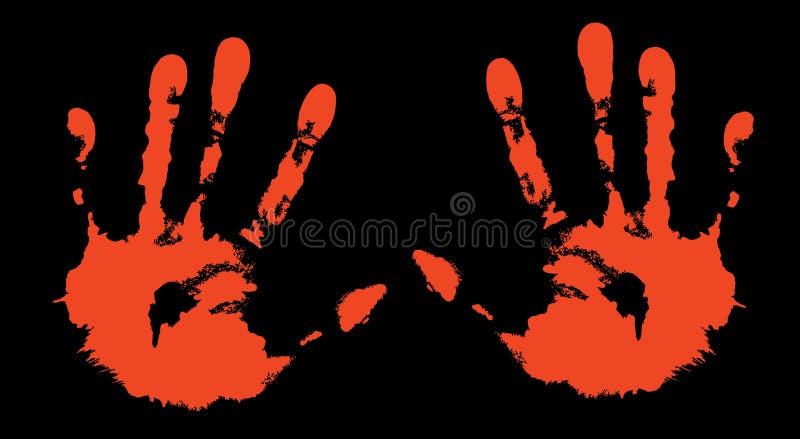 Impression de mes mains illustration libre de droits