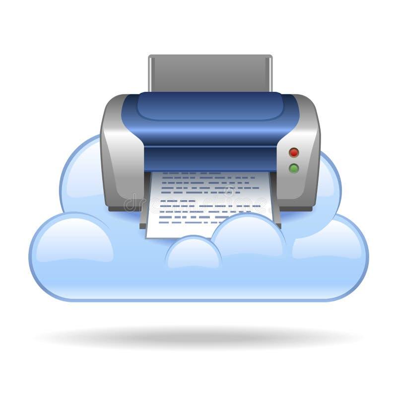 Impression de nuage illustration de vecteur
