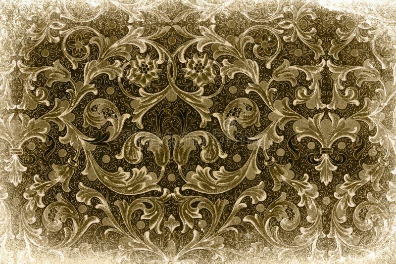 Download Impression florale de cru image stock. Image du papier - 8668839