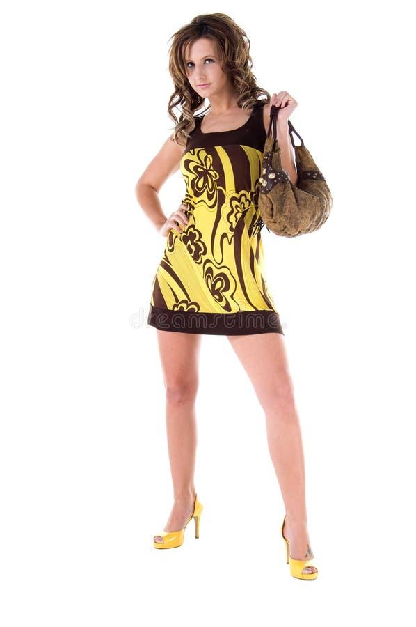 Impression jaune grasse photos libres de droits