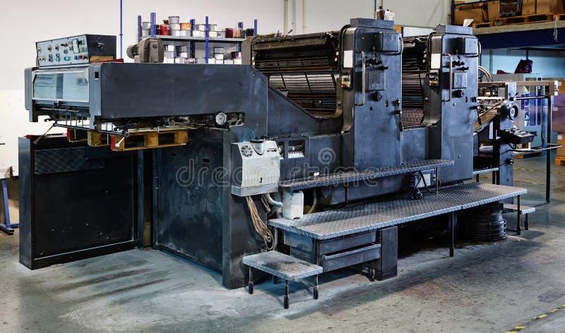 Impression rotatoire de machine d'encre d'imprimerie photos libres de droits