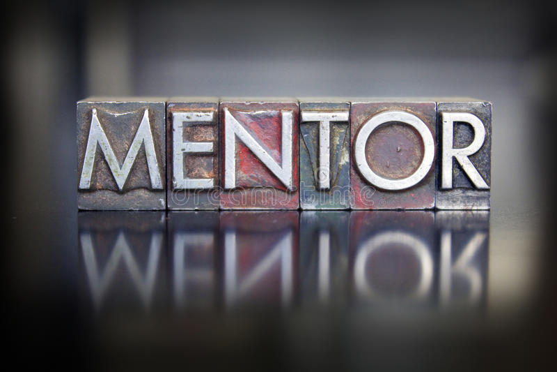Impression typographique de mentor images stock