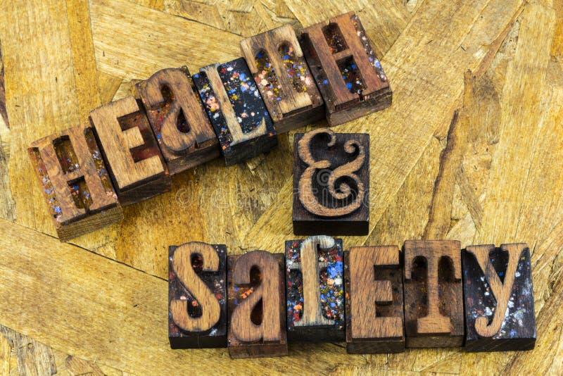 Impression typographique de sécurité de travail de santé photos stock