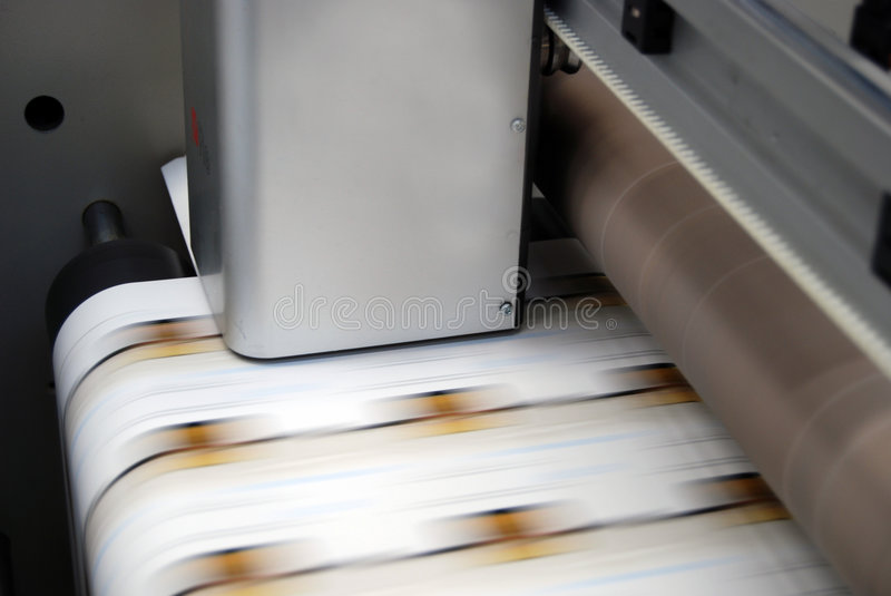 Impression UV de presse de flexo photos stock