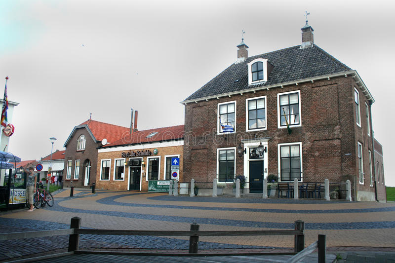 Impressione del villaggio olandese Colijnsplaat immagine stock