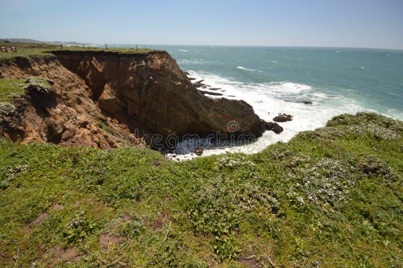 Impressioni delle coste del Pacifico della luce dell'arena del punto, California U.S.A. immagini stock