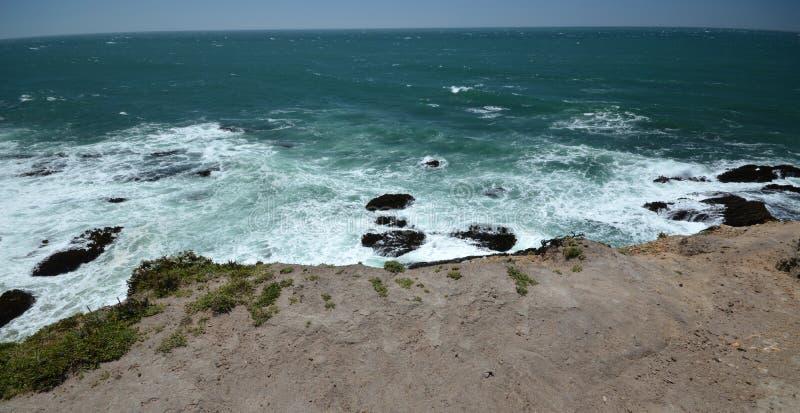 Impressioni delle coste del Pacifico della luce dell'arena del punto, California U.S.A. immagine stock