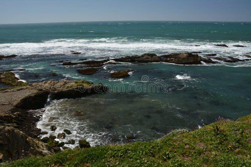 Impressioni delle coste del Pacifico della luce dell'arena del punto, California U.S.A. fotografie stock