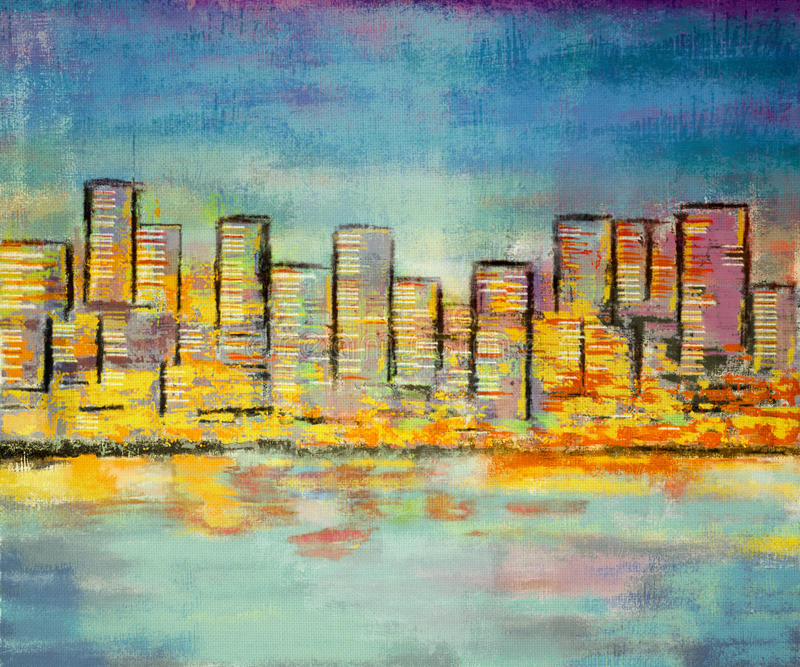 Impressionism Painting Building Stock Images