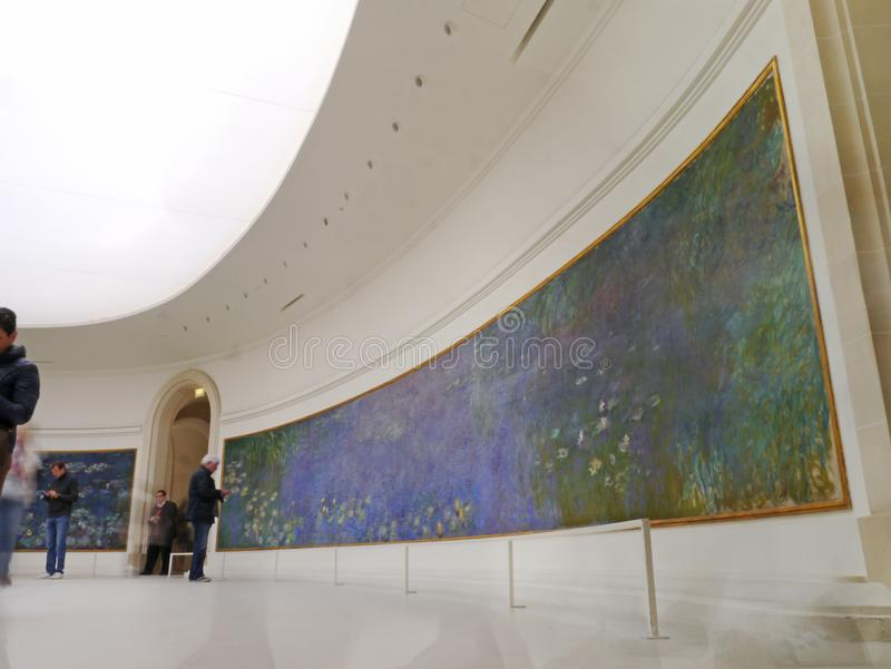 Impressionismo: Monet no Musee De l 'orangerie em Paris fotografia de stock royalty free