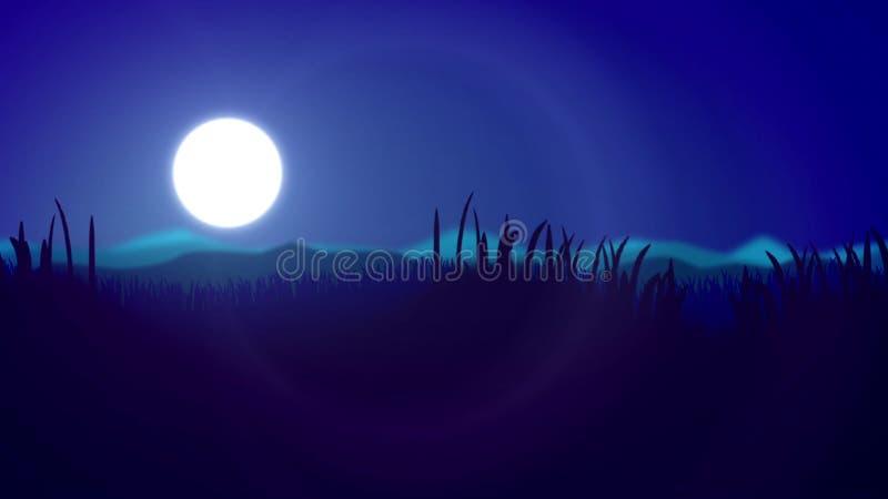 Abstract light and dark blue sunset stock illustration