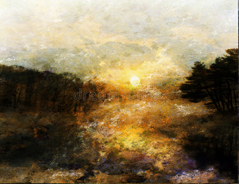Download Impressionist Landscape Royalty Free Stock Photo - Image: 3202785