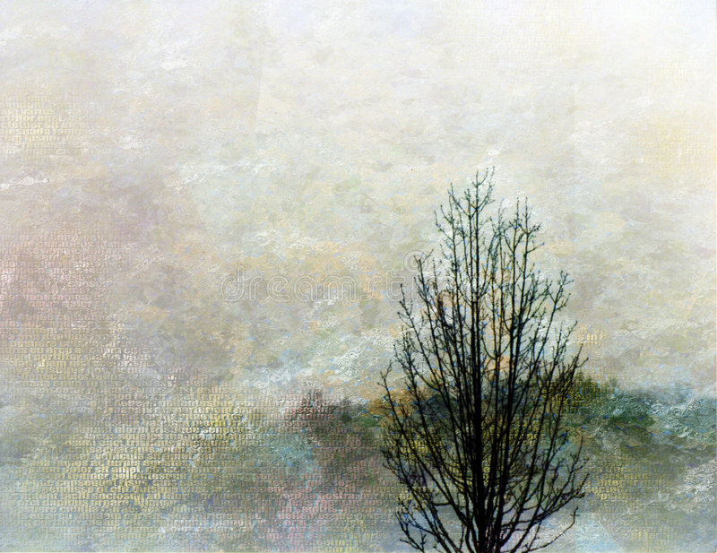 impressionisttree royaltyfri illustrationer