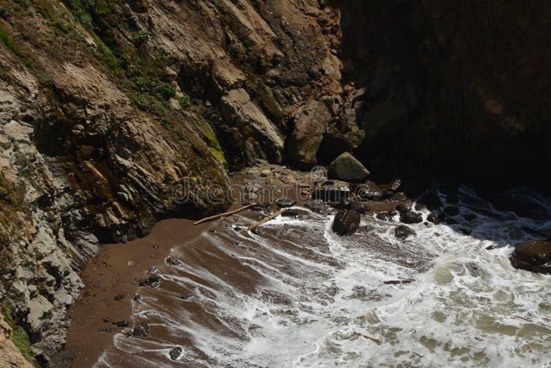 Impressions de Côtes Pacifique de lumière d'arène de point, la Californie Etats-Unis photos libres de droits