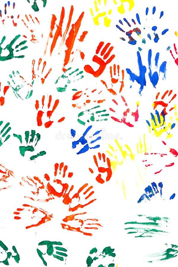 impressions de mains image libre de droits