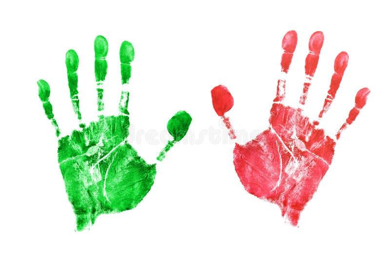 Impressions des mains illustration de vecteur