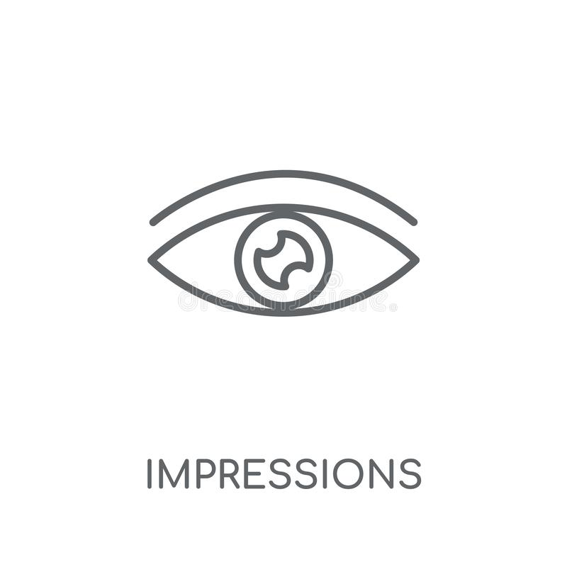 Impressions linear icon. Modern outline Impressions logo concept. On white background from Technology collection. Suitable for use on web apps, mobile apps and royalty free illustration