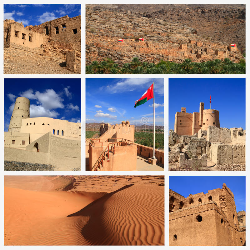 Impressions of Oman. Collage of Travel Images stock image