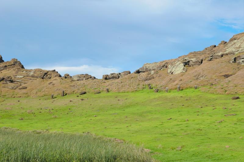 Impressions of Rano Raraku. Different impressions of Rano Raraku in Easter Island, Rapa Nui, Chile, South America stock image