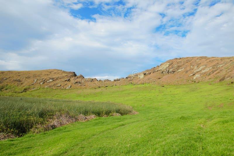 Impressions of Rano Raraku. Different impressions of Rano Raraku in Easter Island, Rapa Nui, Chile, South America stock images