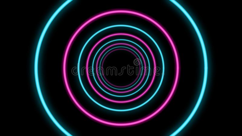 Abstract Tunnel with Blue and Pink Colors royalty free illustration