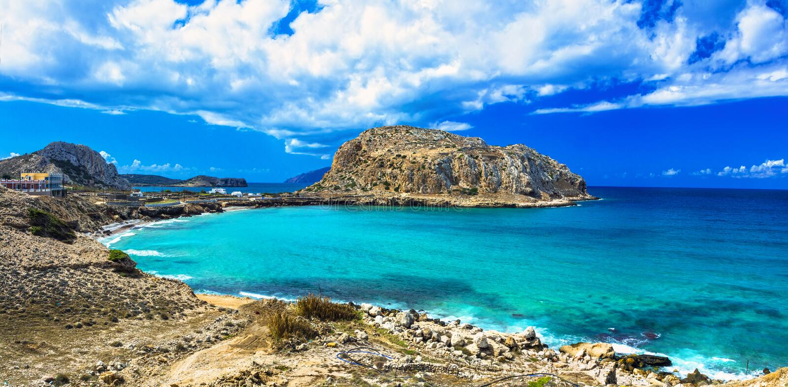 Impressive Greek islands - Karpathos (Dodekanese) royalty free stock image