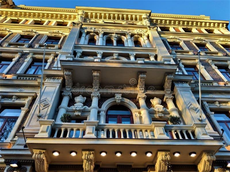 Impressive Jugendstil building in the city center of Helsinki stock photo