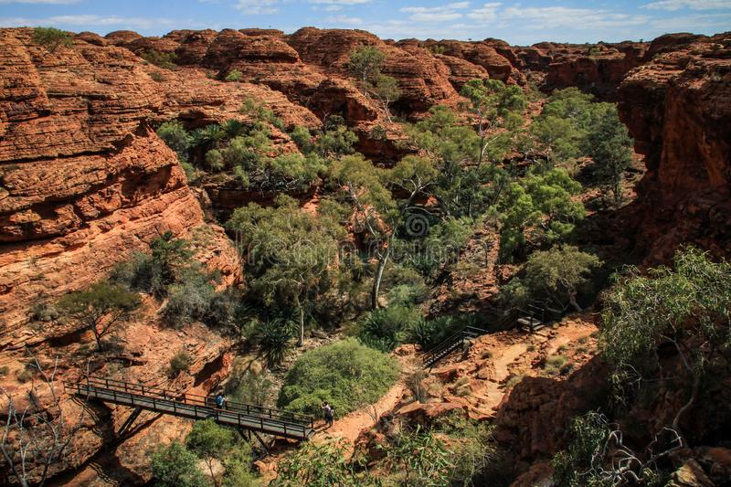 The impressive King`s Canyon, Northern Territory, Australia. Kings Canyon is a canyon in the Northern Territory of Australia located at the western end of the royalty free stock photography