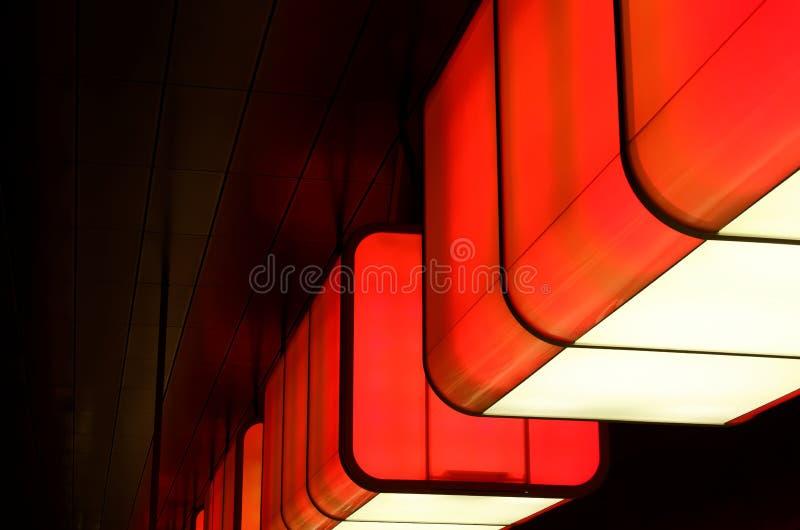 Impressive LED lights in metro station U4, Hamburg, Germany. Impressive LED lights in metro station U4 in Hamburg, Germany royalty free stock images