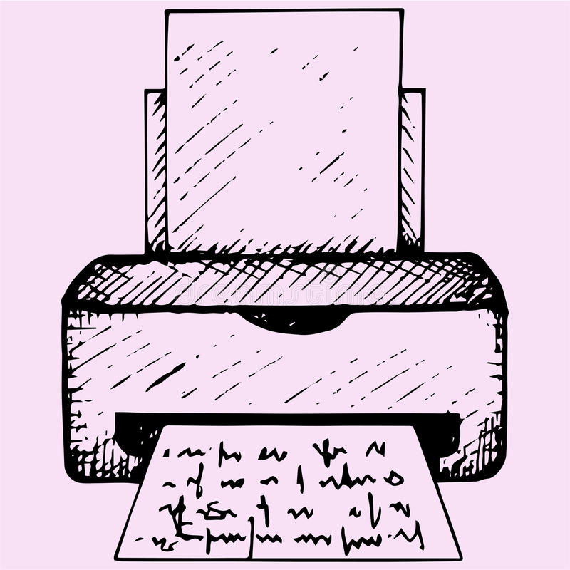 impressora ilustração stock