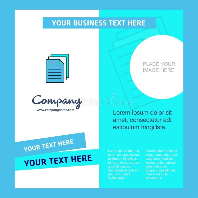 Impressora Company Brochure Template Molde de Busienss do vetor ilustração stock