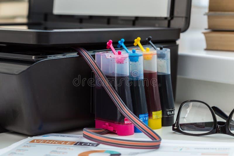 Impressora, copiadora, varredor foto de stock