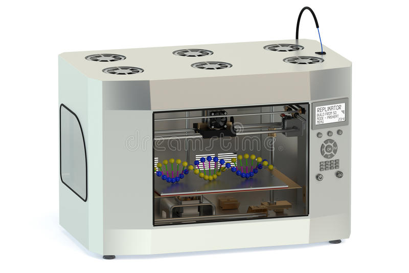 impressora 3D ilustração stock