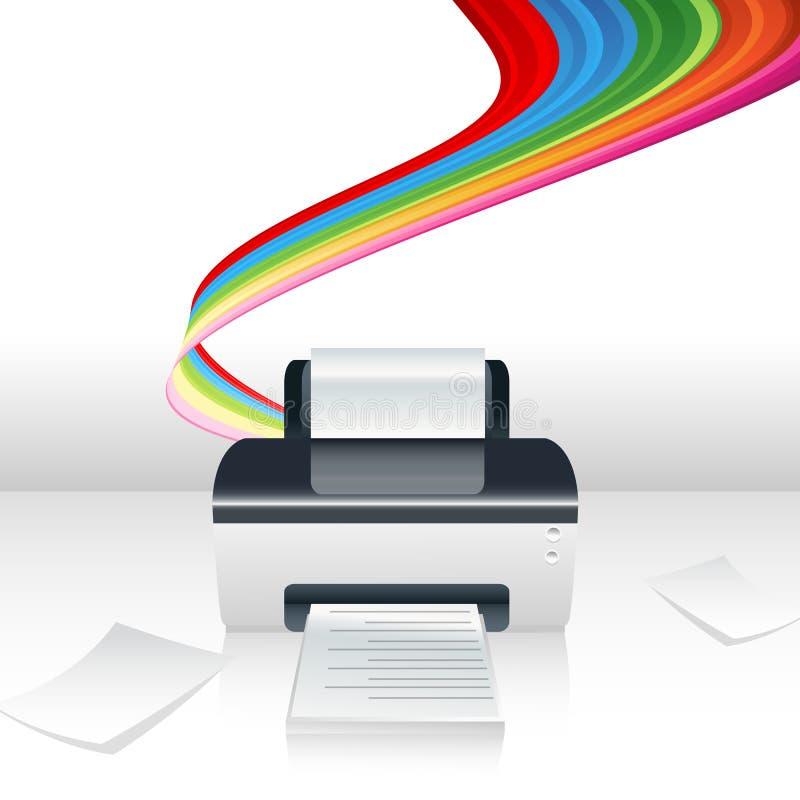 Impressora do computador ilustração stock