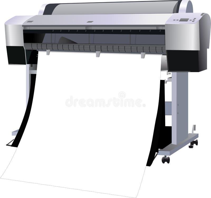 A impressora industrial ilustração stock