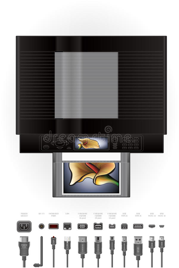 Impressora Inkjet do escritório/fotocopiadora ilustração stock