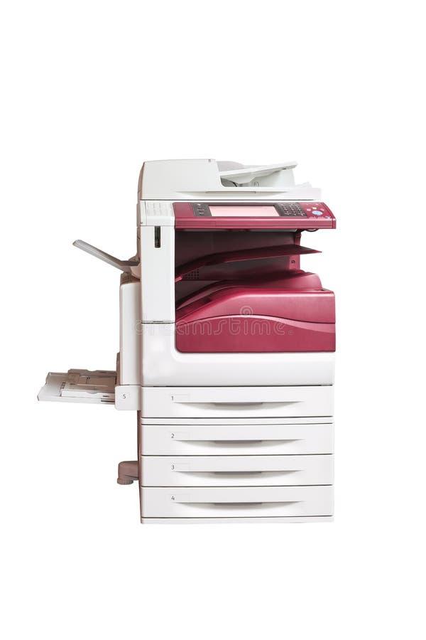 A impressora a laser Multifunction, varredor, fotocopia, no branco foto de stock royalty free