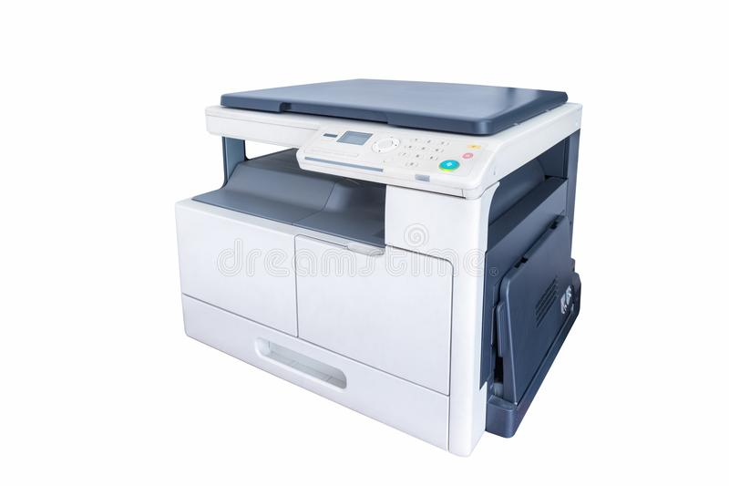 Impressora Multifunction Isolated do escritório imagens de stock royalty free
