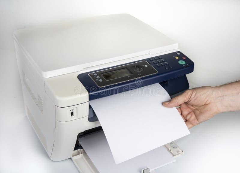 Impressora Multifunction para imprimir a exploração e o copi imagens de stock royalty free