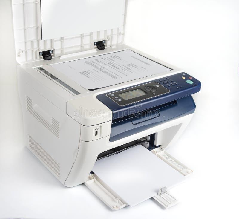 Impressora Multifunction para imprimir a exploração e o copi foto de stock royalty free