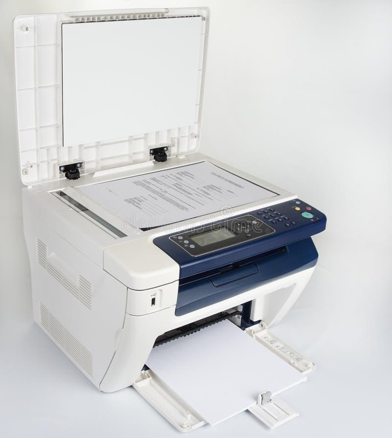 Impressora Multifunction para imprimir a exploração e o copi imagens de stock