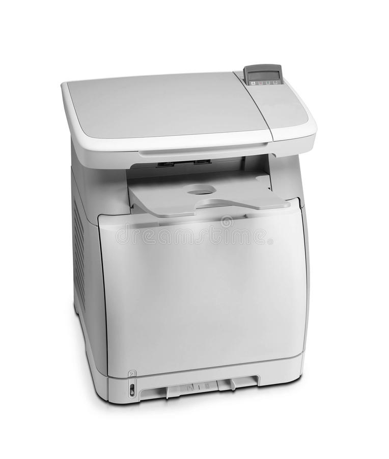 A impressora nova do varredor do estilo fotocopia o dispositivo do escritório fotos de stock royalty free