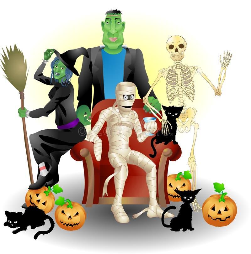 impreza halloween. ilustracja wektor