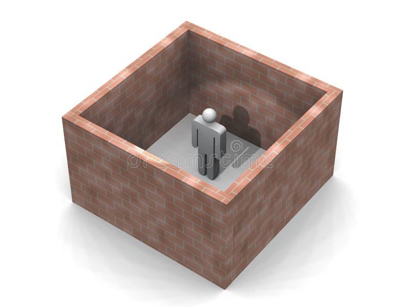 Imprigionato illustrazione di stock