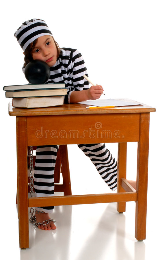 Imprigionato da School immagini stock libere da diritti