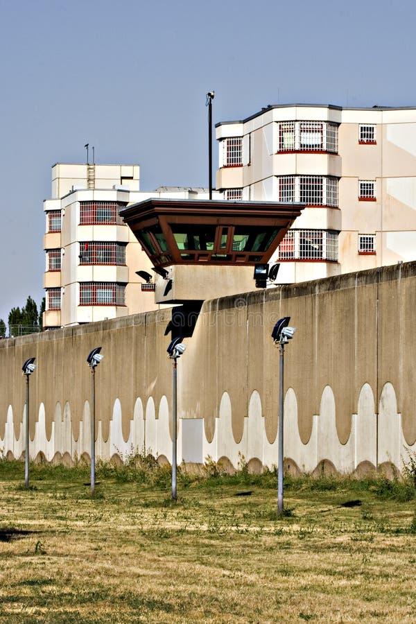 Imprigioni il jailhouse della torretta della vigilanza nella priorità bassa 3 immagini stock